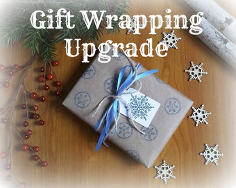 Gift Wrapping Option, Custom Gift Wrap Service, Gift Wrapped Upgrade, with Gift Note
