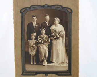 ON SALE Photograph, Photo, Portrait, Wedding, Party, Man, Women, Family, Vintage, Antique, Melrose MN. Cabinet Photo, Black and White