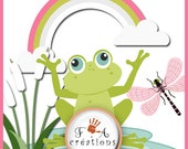 Frog,rainbow,Clipart, png formats , Clip Art,Element,Instant Downloads