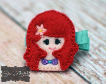 Embroidered Princess Hair Clip