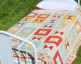 SALE Handmade Vintage Style Quilt