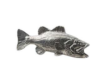 Pewter ~ Largemouth Bass ~ Lapel Pin/Brooch ~ F082,FC082,FP082