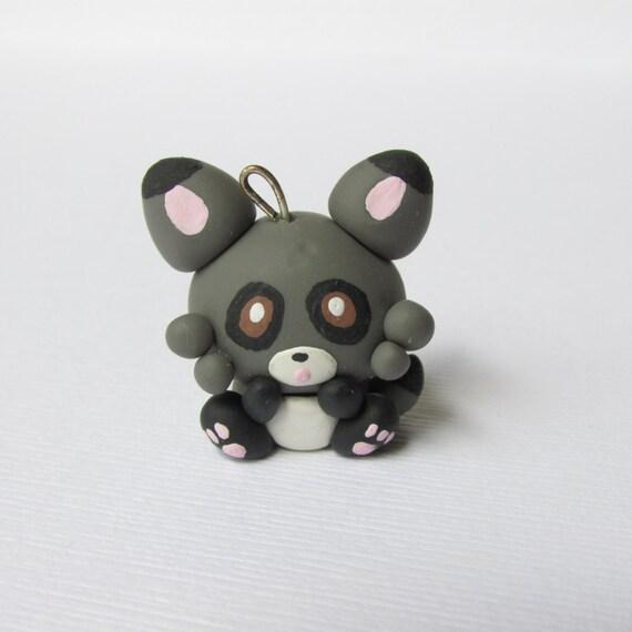 Kawaii Polymer Clay Charm-Li'l Raccoon
