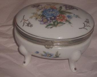 Vintage Porcelain Trinket Casket