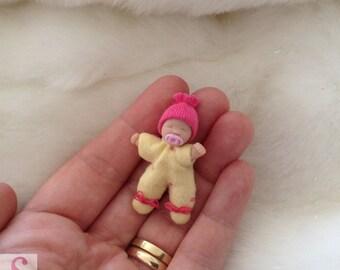 OOAK clay / soft body doll 12th 1:12 scale dollshouse handmade nursery Sweet Miniature collectable gift ornament Artisan Sheryl Coupland