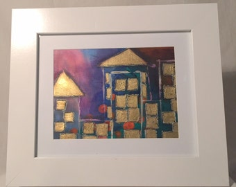 Original Mixed Media Framed Artwork - Community