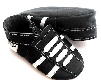 soft sole baby shoes leather infant sport black white 2 3 y bebes garcon cuir souple chaussons chaussures Krabbelschuhe ebooba SP-27-B-M-5