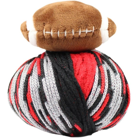 Dmc Top This Hat Yarn Kit Team Colors Red Black With