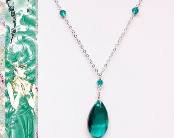 Sailor Neptune Ball Gown Inspired Necklace - Glass Crystal