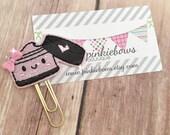 Pink/Black/Make Up/Sparkle Applique Paper Clip/Planner Clip/Journal Marker/Bookmark