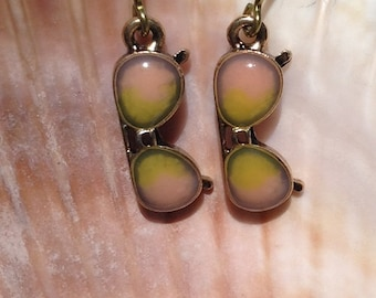 Cute gold niobium sunglass earrings perfect for summer allergy free hypo allergenic solution