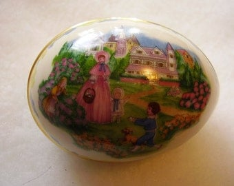 Vintage LENOX Porcelain Easter Egg/1986