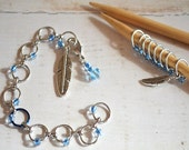 Spirit Feather / Abacus Style Knitting Row and Round Counter with Optional Stitch Marker Set