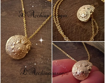 The Little Mermaid Inspired - Ariel Voice - Ursula necklace - seashell - seashell necklace - 18k gold plated brass