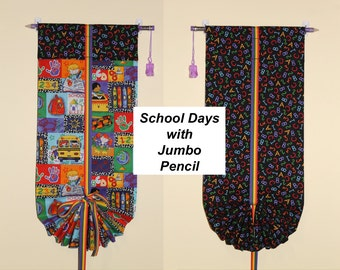Classroom Door Safety Curtain--School Days with Jumbo Pencil