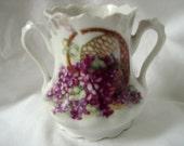 Reserved for Patti Vintage J S Germany V Johann Seltmann Two-Handled Vase Purple Violets