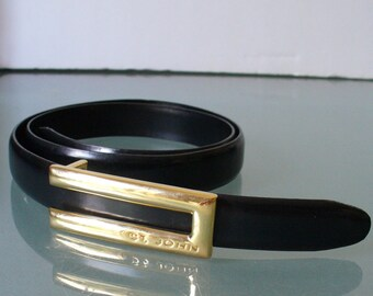 St. John Made in Italy Leather Belt