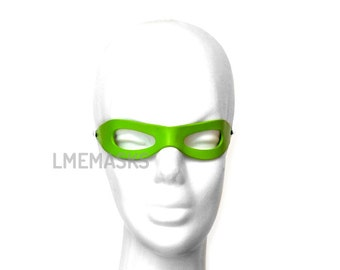 The Riddler leather mask Batman Forever Villain children adults Half Green Halloween Costume Masquerade Carnival Party Comic Con Cosplay