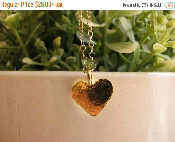 SALE - Heart necklace - Heart necklace gold - Love necklace - Small heart necklace - Delicate heart necklace - 14k gold filled necklace,