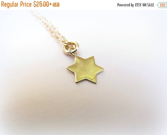 SALE - Star of David Necklace - Tiny gold Star of David Necklace - David star necklace - Small star of david necklace - Star of David Neckla