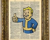 Fallout 4 Vault Boy Dictionary Art