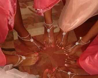 Rhinestone Barefoot Sandals Swarovski Foot Jewelry Wedding Anklet Wedding Jewelry Beach Jewelry Bridal Anklet Wedding Foot Jewelry