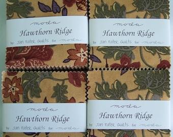 "Set of (4) HAWTHORN RIDGE Mini Charm Packs designed by Jan Patke Quilts for Moda - 2.5"" squares"