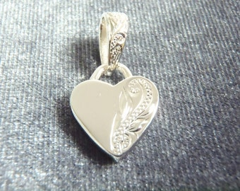 Sterling Silver Scroll Heart Pendant P99