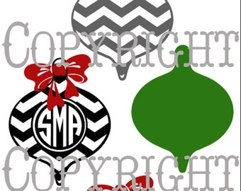 christmas ornament cut file, vinyl ready design, SVG file, silhouette file, cricut file, ready to cut, fall