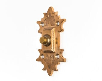 Antique Gothic Revival Revival Doorbell Pushbutton Electric Buzzer