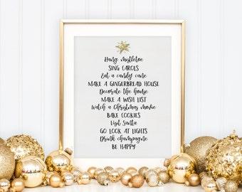 Christmas Printable - Christmas Decor - Christmas Wall Art - Christmas Print - Holiday Wall Art - Digital Download - Xmas Wall Decor