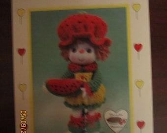 Watermelon Slice Crocheted DollPattern
