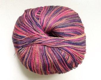 40% Off Juniper Moon Farms Findley Dappled Lace Merino Silk Yarn Stanza Pink Purple Gold 798 Yards
