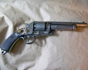 Steampunk 1860 Confederate Le Mat Black Powder Revolver Replica