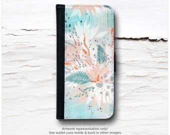 """iPhone 6S Case Wallet, iPhone 6 Wallet Case iPhone 6s Case """"Tropical Teal"""" by Iveta Abolina, iPhone 6S Flip Wallet Case Wallet Case I193"""