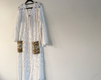 Womens Say You Love Me Maxi Crochet Dress.size 10 to 16.