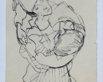 """Schiele Egon 50, Lithograph, """"Embracement"""""""