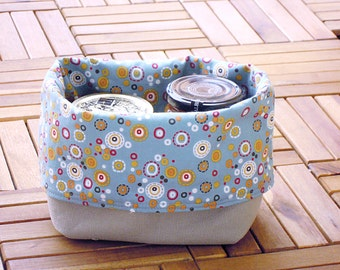 Reversible fabric basket DYI step-by-step tutorial - instant download - super easy ENGLISH
