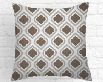 Pillows, Pillow Covers, Decorative Pillows, Cushion, Pink Pillow, Throw Pillow, brown and white. Pillow