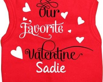 Valentines Day RED Dog Shirts with Favorite Valentine