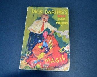 Vintage Magic Book | 1934 Dick Daring's New Bag of Tricks | Quacker Oats Promotional Giveaway | Magician's Tricks | Magic