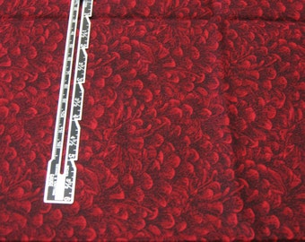 """1/2 yard Quilting Fabric Red Pinecone Print - 44"""" wide Cotton"""