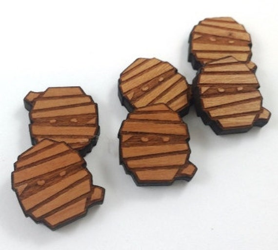 Laser Cut Supplies-8 Pieces. Ancient Mummy Charms - Laser Cut Wood -Earring Supplies- Little Laser Lab Sustainable Wood Products