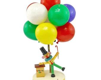 Vintage Dolly Toy clown balloon vendor colorful nursery lamp
