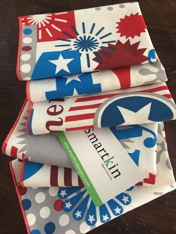 Sale! 4th of July Patriotic Napkin by Smartkin