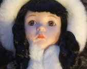 Camelot Porcelain Doll ALANA Eskimo Inuit Costume
