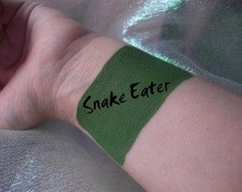 Snake Eater - Cream Liquid Matte Grass True Green Lipstick - Metal Gear Solid Inspired Lipstick Gothic Zombie Lips Goth
