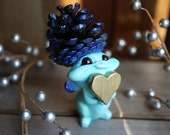 gift of love, hearts, fairy figurine, fairy doll, fairy sculpture, art doll, art toy, designer toy, pinecone, unique gifts for him
