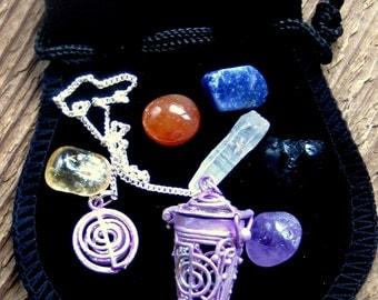 Chakra Reiki Symbol Pendulum, Divination, Chakra Stones
