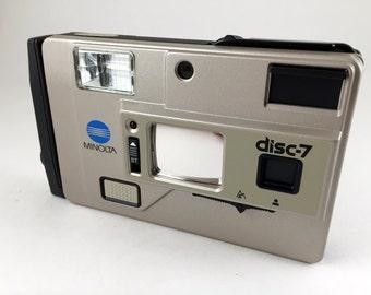 """Minolta Disc-7 camera in """"new condition"""""""